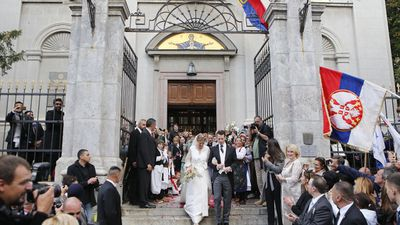 Prince Philip of Serbia and Danica Marinkovic wedding, October 2017