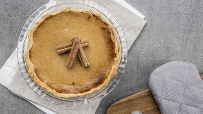 "Recipe: <a href=""https://kitchen.nine.com.au/2017/05/26/11/37/easy-spiced-pumpkin-pie"" target=""_top"">Easy spiced pumpkin pie</a>"