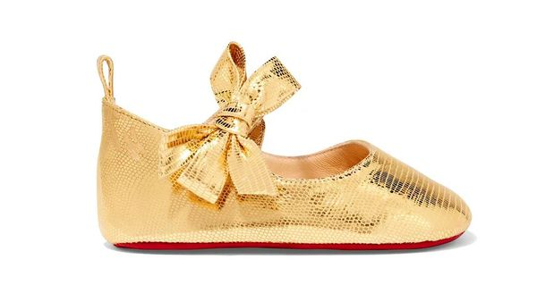 Booty-licious: the iconic red-soled Louboutins now come in baby size. Image: Goop