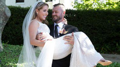 Jaimie and Chris wedding day