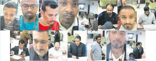 Images of the 15 men allegedly allegedly shows Saudi citizens that Turkish police suspect of being involved in the disappearance of the writer.