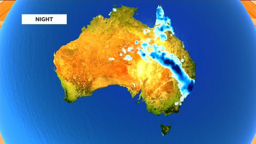 The system is expected to combine with a second low-pressure system in Queensland. (9NEWS)