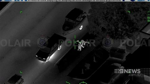 Police released these images of the alleged car chase today. (9NEWS)