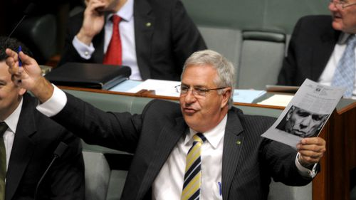 Mr Randall during question time in 2010. (AAP)