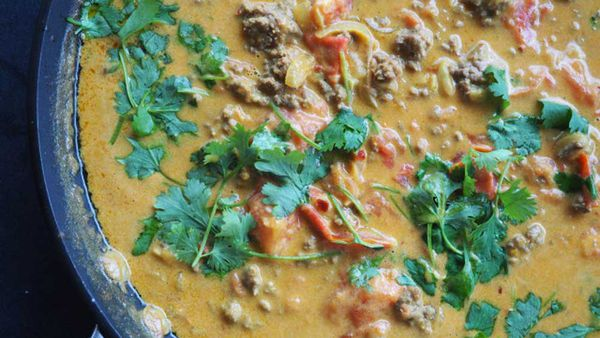 Curried mince