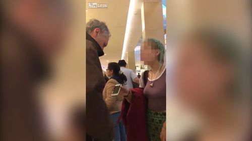 Girl abuses 'grandpa' for making her late for Apple store appointment