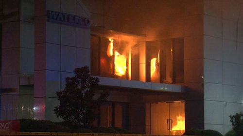 No one was in the building when the blaze broke out. (9NEWS)