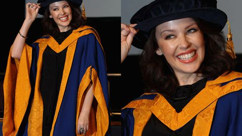 It's Dr Minogue! Kylie gets an honorary doctorate
