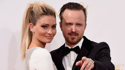 Lauren Parsekian and actor Aaron Paul. (Getty)