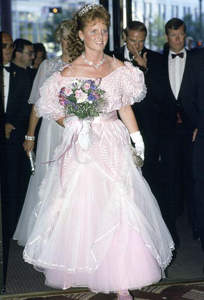 The Duchess Of York, Sarah Ferguson, attending a banquet in Edmonton, Canada.
