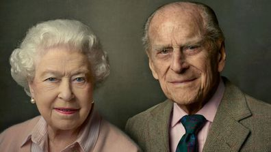 Queen and Prince Philip's photo portrait taken to mark Her Majesty's 90th Birthday in 2016