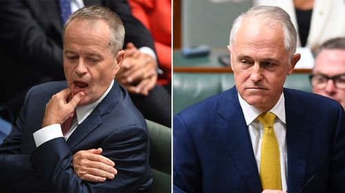 Malcolm Turnbull (right) has accused Bill Shorten of being duplicitous. (Images: AAP)