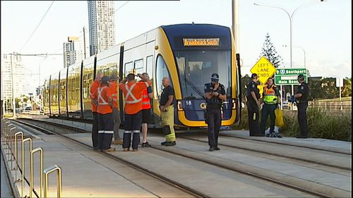 Emergency crews were called to the tram accident at about 5am. (9NEWS)