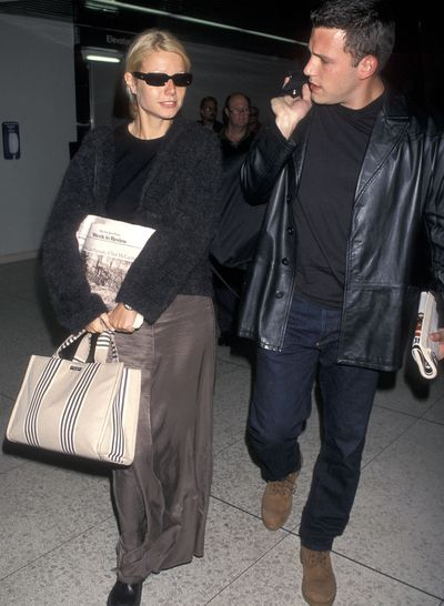 Gwyneth Paltrow with a Kate Spade tote in Los Angeles, October 1998