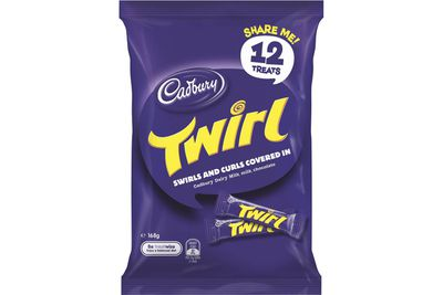 Fun-size Twirl: Close to 2 teaspoons of sugar