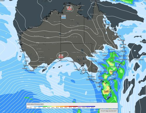 The first weekend of AFL and NRL Finals football could be a little damp with passing rain showers moving over Australia.