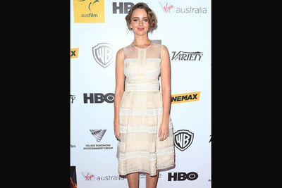 <i>Mental</i> actress Natasha Bassett went Gatsby-glam at her first AIF awards.