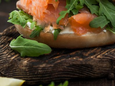 A bagel piled high with your favourite fillings makes for a perfect lunch.
