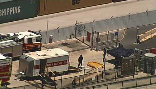 Poisonous chemical spill causes exclusion zone at Port of Brisbane