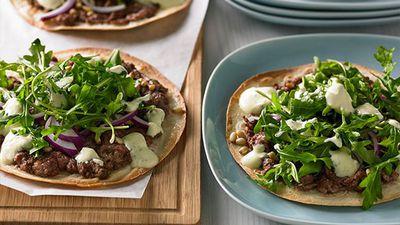 """Recipe:&nbsp;<a href=""""http://kitchen.nine.com.au/2016/05/05/11/05/lamb-kofta-pizza"""" target=""""_top"""" draggable=""""false"""">Lamb kofta pizza<br /> </a>"""