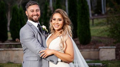Cathy and Josh's official wedding album Married At First Sight (MAFS) 2020