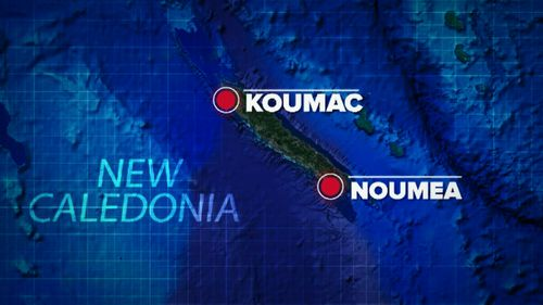 A rescue boat was sent to the reef of Koumac, but the man could not be saved. (9NEWS)