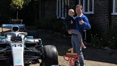 Tragic turn of events for little boy who inspired Formula One racer's win