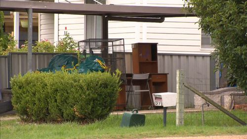 The Rottweiler was found in the home's backyard and was seized by council rangers. (9NEWS)