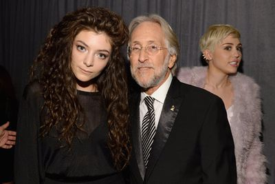 ...and photobombing Kiwi double-Grammy winner Lorde (pictured with Recording Academy CEO Neil Portnow).