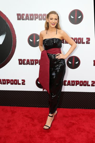 Blake Lively in Brandon Maxwell at the <em>Deadpool 2</em> premiere in New York City