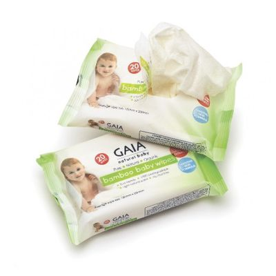 "<a href=""http://www.gaiaskinnaturals.com/Bamboo-Baby-Wipes-90.html"" target=""_blank"" draggable=""false"">Gaia Natural Bamboo Baby Wipes, $2.99 (pack of 20).</a><br />"