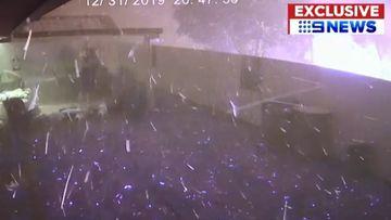 Blizzard of embers batters backyards