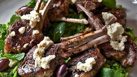 BBQ lamb with broad bean paste