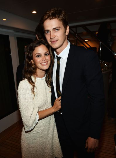 Rachel Bilson, Hayden Christensen, couple shot