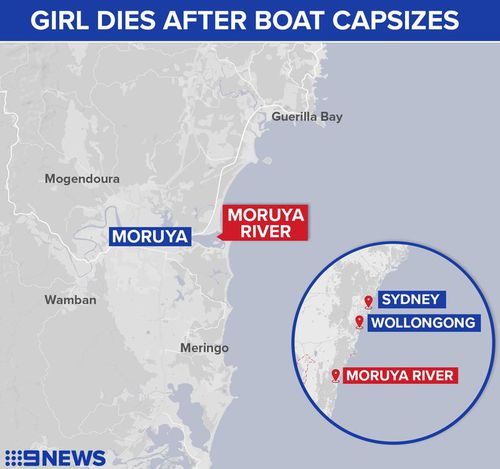 The 6.3-metre vessel capsized as it attempted to cross the Moruya River bar. (9NEWS)