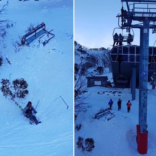A freak gust of wind was responsible for knocking the Thredbo chairlift from its cable, a spokesperson said.