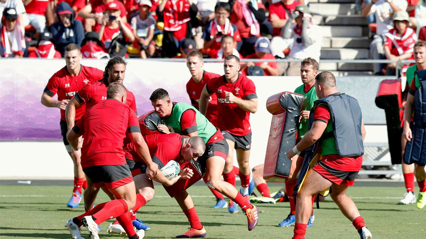 Wales train in Japan ahead of the RWC