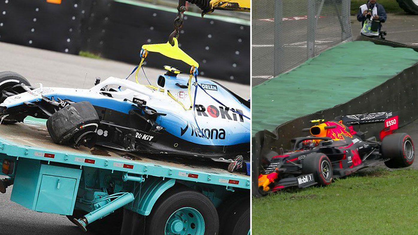 Ferraris dominate wet and wild Brazilian Grand Prix practice