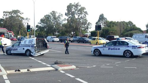The collision happened at the Armadale road and Railway ave intersection. (9NEWS)
