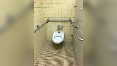 """Apparently children with disabilities don't need toilet seats."" (Twitter/@teachdetroit)"