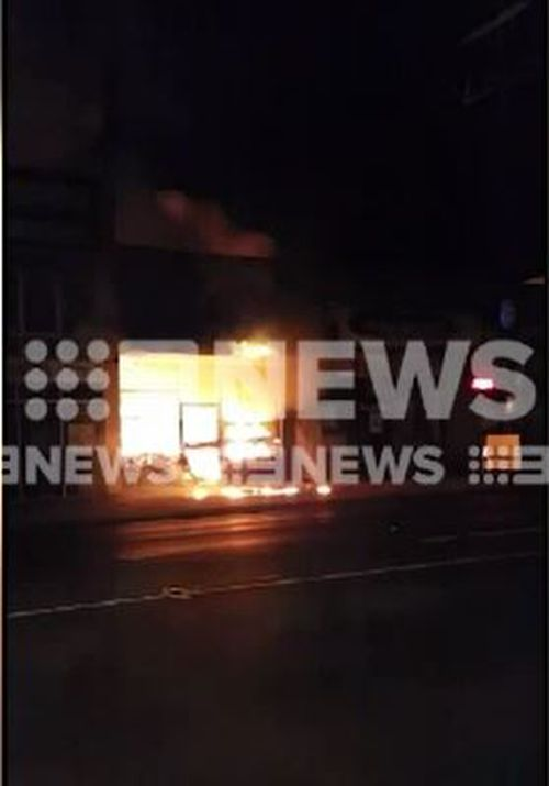 A fire that destroyed a tattoo parlour in Melbourne's south-east is now being treated as 'suspicious'. Picture: Supplied.