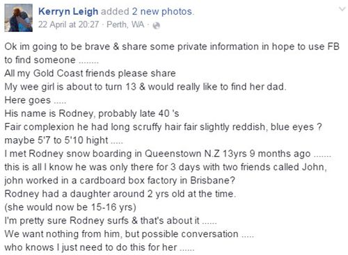 Kerryn-Leigh's Facebook post has been shared over 13,000 times. Source: Facebook