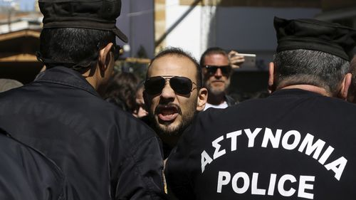 Cyprus protester