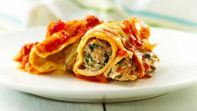 "Recipe: <a href=""http://kitchen.nine.com.au/2016/07/18/14/37/italian-pork-and-spinach-cannelloni"" target=""_top"" draggable=""false"">Italian pork and spinach cannelloni</a>"