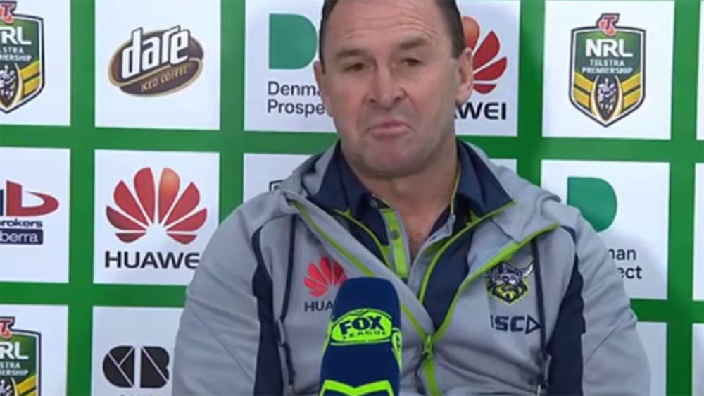 Canberra Raiders coach Ricky Stuart slams NSWRL over Daley Origin sacking
