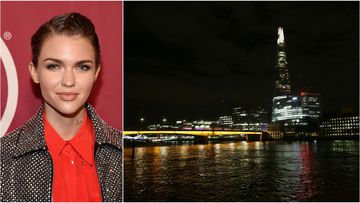 Australian entertainer Ruby Rose tweeted from London while in lock-down. (Getty/AAP)