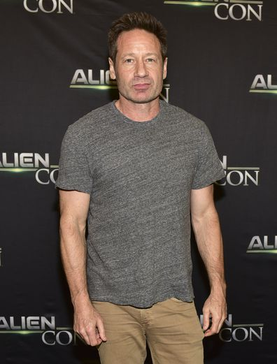 David Duchovny at A+E Networks, Mischief Management & Prometheus Entertainment present AlienCon 2018 at Pasadena Convention Center on June 17, 2018 in Pasadena, California.