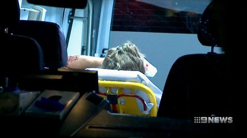 The German tourist was assaulted and robbed about 3:20am today. (9NEWS)