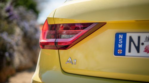 Audi A1 Sportback 35 TFSI as tested in Python yellow.