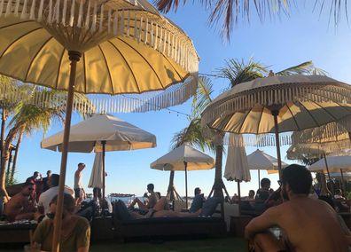 Bali resort beachfront restaurant